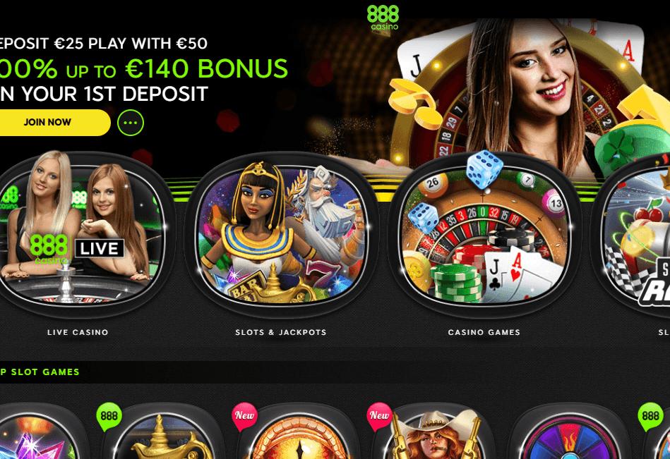 888casino Website Review