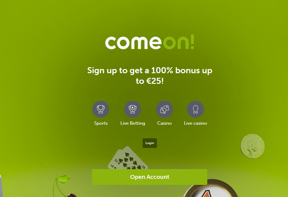 ComeOn Website Review