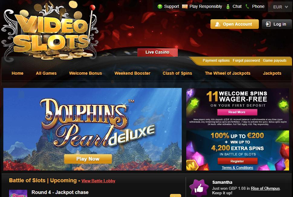 Videoslots Gambling Site