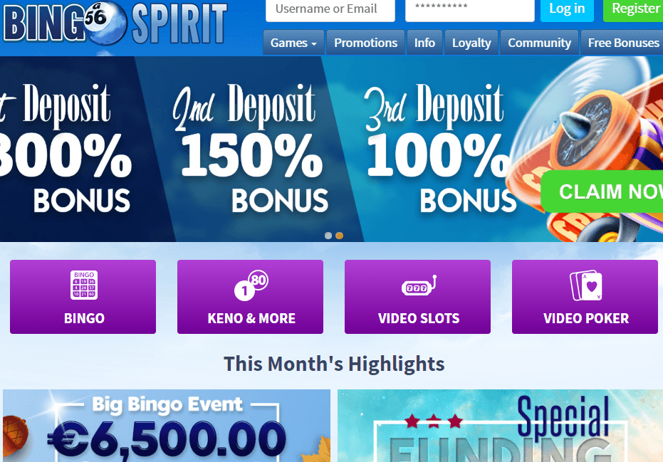 bingospirit.com Website Review