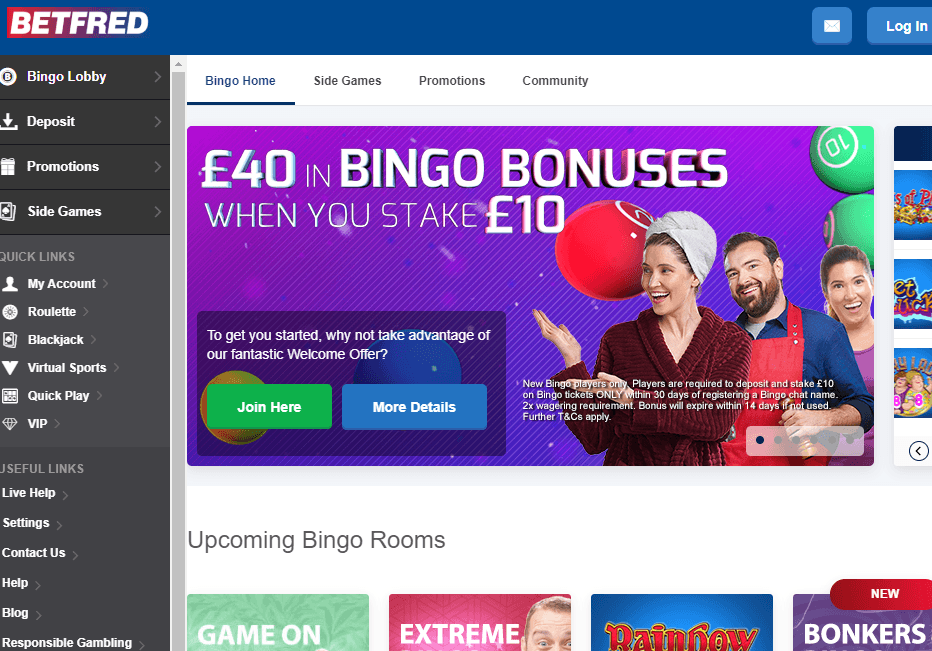 Betfred Bingo Website REview
