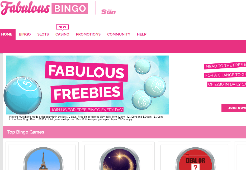 Fabolus Bingo Website Review