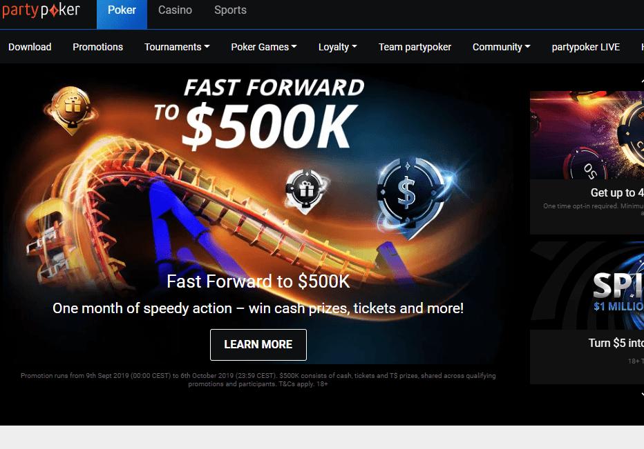 partypoker.com website review