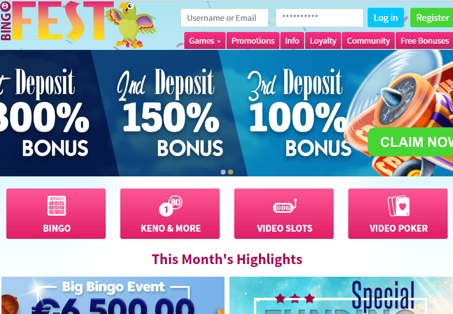 bingofest.com Website Review