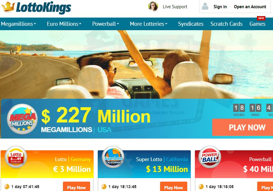 LottoKings Website Review
